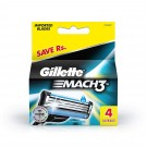 GILLETTE MACH3 TURBO IMPORTED BLADES 4CARTRIDGES