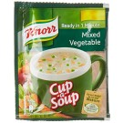 KNORR CUP A SOUP MIXED VEGETABLE READY IN 1 MINUTE 10GM