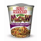 NISSIN CUP VEGGI MANCHOW SPICY VEGETABLE FLAVOUR 70GM