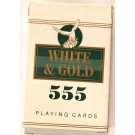 PLAYING CARDS WHITE & GOLD 555