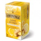 TWININGS TEA LEMON & GINGER 25SACHETS