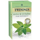 TWININGS TEA REVIVE & REVITALISE PURE PEPPERMINT 25BAGS