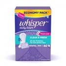 WHISPER DAILY LINERS CLEAN & FRESH NORMAL 40N